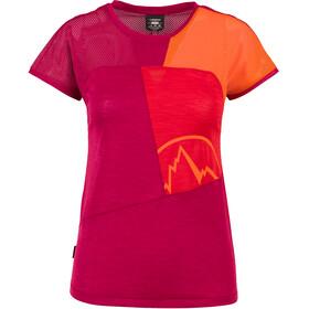 La Sportiva Push Maglietta a maniche corte Donna arancione/viola
